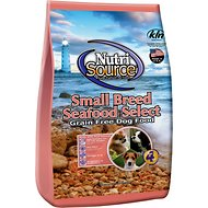 NutriSource Small Breed Seafood Select with Real Salmon Grain-Free Dry Dog Food, 5-lb bag