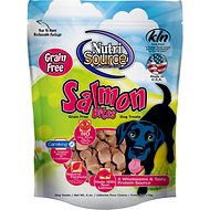 NutriSource Salmon Bites Grain Free Dog Treats, 6-oz bag