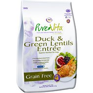 PureVita Duck & Green Lentils Entrée Grain-Free Dry Dog Food, 25-lb bag