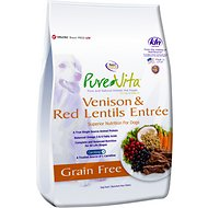 PureVita Venison & Red Lentils Entrée Grain-Free Dry Dog Food, 15-lb bag