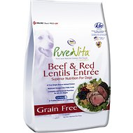PureVita Beef & Red Lentils Entrée Grain-Free Dry Dog Food, 25-lb bag