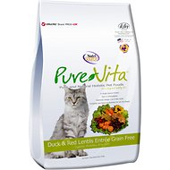 PureVita Duck & Red Lentils Entrée Grain-Free Dry Cat food, 6.6-lb bag