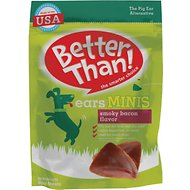Better Than Ears Minis Smoky Bacon Flavor Dog Treats, 15 count
