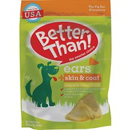 Better Than Ears + Skin & Coat Cheese & Bacon Flavor Dog Treats, 9 count