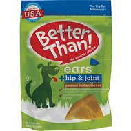 Better Than Ears + Hip & Joint Peanut Butter Flavor Dog Treats, 9 count