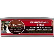 Dave's Pet Food Naturally Healthy Grain-Free Fisherman's Stew Canned Cat Food, 5.5-oz, case of 24