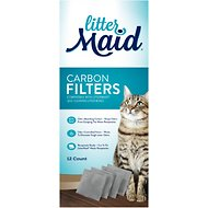 LitterMaid Carbon Filters for Self-Cleaning Cat Litter Box, 12 count