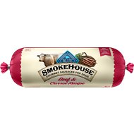 Blue Buffalo Smokehouse Beef & Carrot Recipe Sausage Dog Food Roll, 2.25-lb