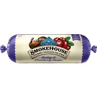 Blue Buffalo Smokehouse Turkey & Cranberry Recipe Sausage Dog Food Roll, 2.25-lb