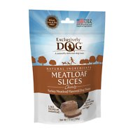 Exclusively Dog Turkey Meatloaf Slices Dog Treats, 7-oz bag