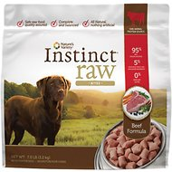 Nature's Variety Instinct Raw Bites Beef Formula Raw Frozen Dog Food, 7-lb bag