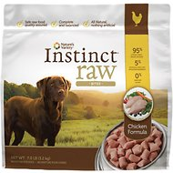 Nature's Variety Instinct Raw Bites Chicken Formula Raw Frozen Dog Food, 7-lb bag