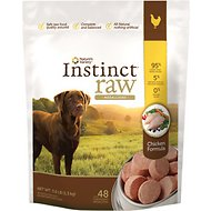 Nature's Variety Instinct Raw Medallions Chicken Formula Raw Frozen Dog Food, 3-lb bag