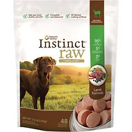 Instinct by Nature's Variety Raw Medallions Lamb Formula Raw Frozen Dog Food, 3-lb bag