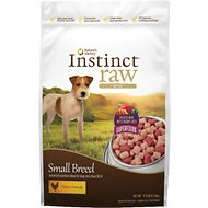 Nature's Variety Instinct Raw Bites Chicken Formula Small Breed Raw Frozen Dog Food, 3.5-lb bag