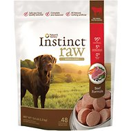 Nature's Variety Instinct Raw Medallions Beef Formula Raw Frozen Dog Food, 3-lb bag
