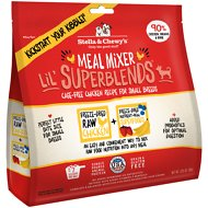 Stella & Chewy's SuperBlends Cage-Free Small Breed Chicken Recipe Meal Mixers Grain-Free Freeze-Dried Dog Food, 3.25-oz bag