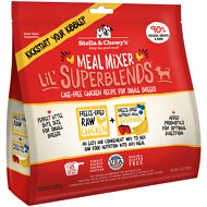 Stella & Chewy's SuperBlends Cage-Free Small Breed Chicken Recipe Meal Mixers Grain-Free Freeze-Dried Dog Food, 8-oz bag
