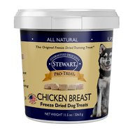 Stewart Pro-Treat Chicken Breast Freeze-Dried Dog Treats, 11.5-oz tub