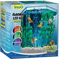 Tetra Hexagon Aquarium Kit with LED Bubbler, 1-gal
