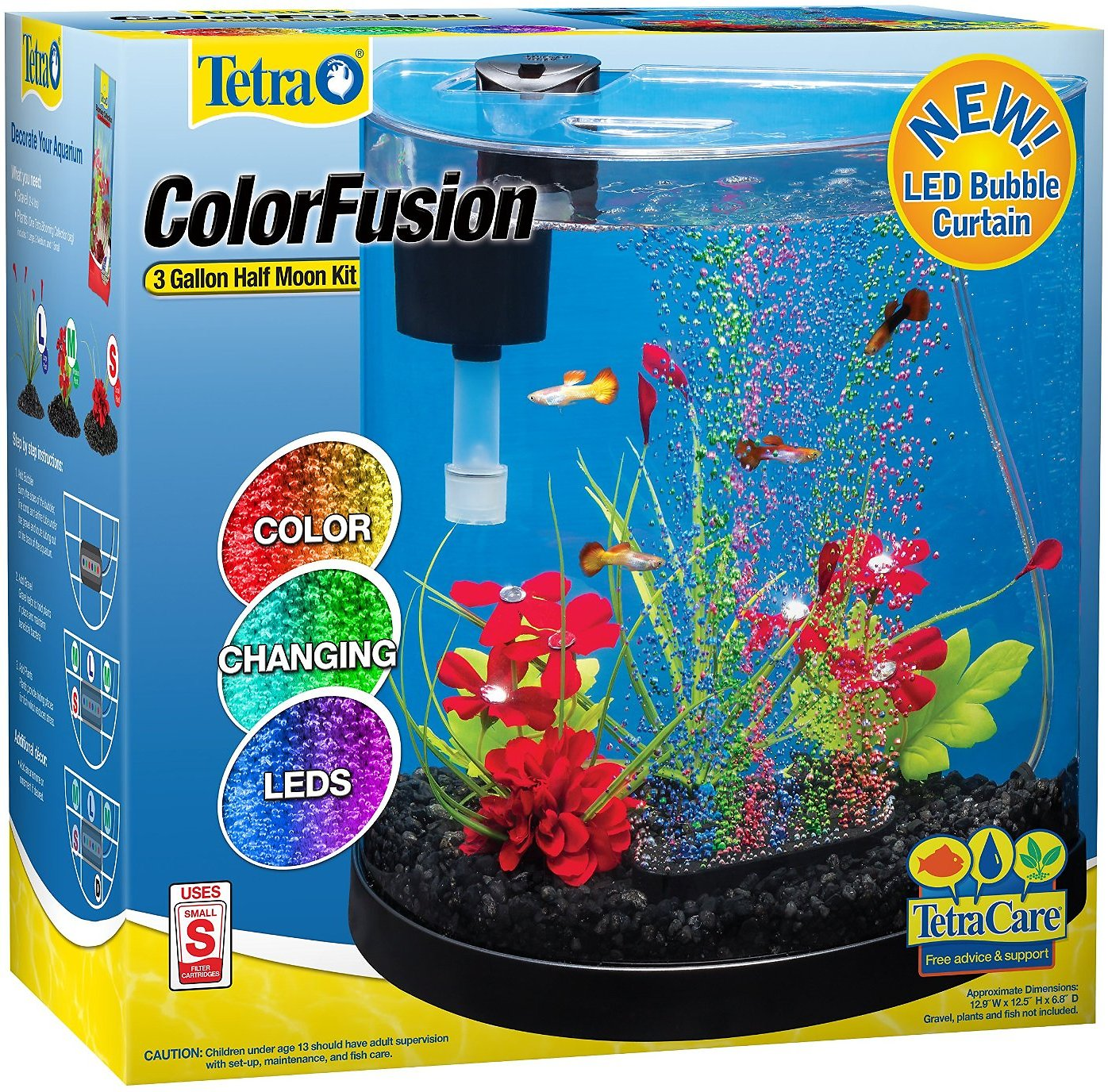 Tetra ColorFusion Half Moon Aquarium Kit 3 gal Chewy