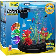 Tetra ColorFusion Half Moon Aquarium Kit, 3-gal