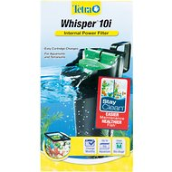 Tetra Whisper Internal Aquarium Power Filter with BioScrubber, 3-10 gal
