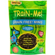 Crazy Dog Train-Me! Grain-Free Minis Chicken Flavor Dog Treats, 3.5-oz bag