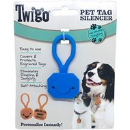 Twigo Pet ID Tags Silencer Pocket for Cats & Dogs, Blue