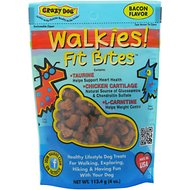 Crazy Dog Walkies! Fit Bites Bacon Flavor Dog Treats, 4-oz bag