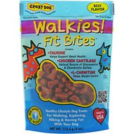 Crazy Dog Walkies! Fit Bites Beef Flavor Dog Treats, 4-oz bag