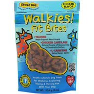 Crazy Dog Walkies! Fit Bites Chicken Flavor Dog Treats, 4-oz bag