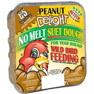 C&S Peanut Delight No Melt Suet Dough Wild Bird Food, 11.75-oz tray