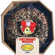 C&S Seed & High Energy Suet Nugget Wreath Wild Bird Food, 2.6-lb