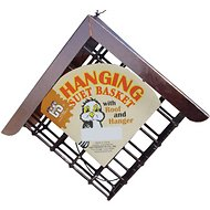 C&S Hanging Suet Basket with Roof & Hanger Wild Bird Feeder, 7-inch