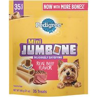 Pedigree Mini Jumbone Real Beef Flavor Dog Treats, 35 count