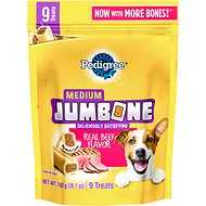 Pedigree Medium Jumbone Real Beef Flavor Dog Treats, 9 count