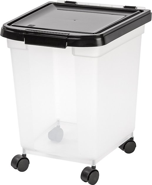 Iris Airtight Pet Food Storage Container Clear Black 32