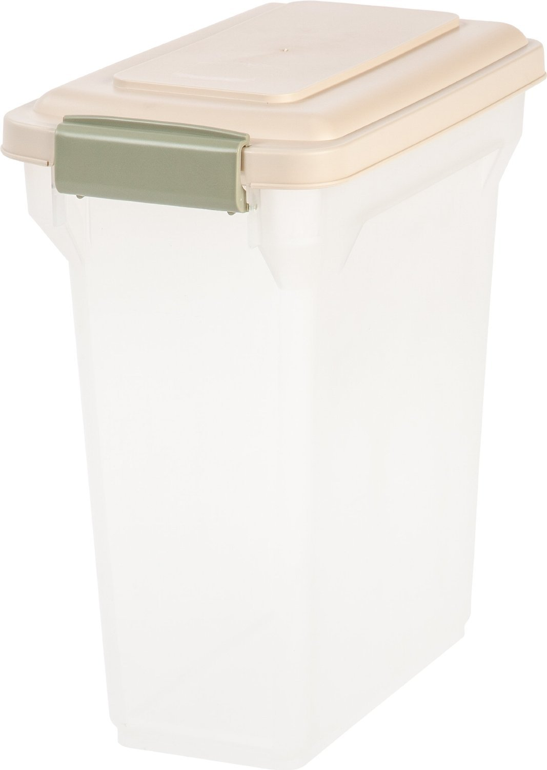 iris airtight pet food storage container clearalmond