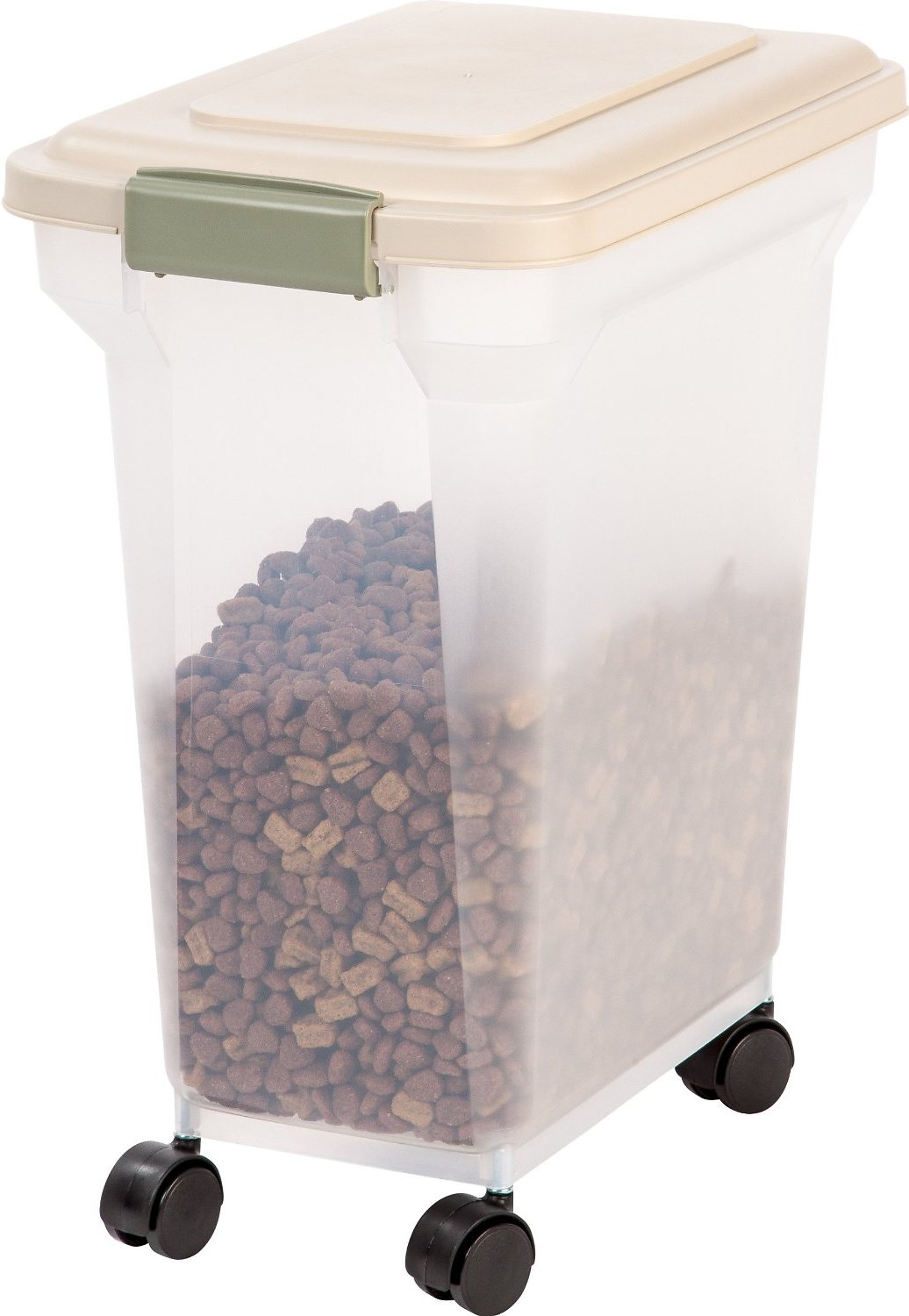 Iris Airtight Pet Food Storage Container Clear Almond 28