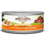 Whole Earth Farms Grain-Free Real Chicken & Salmon Pate Recipe Canned Cat Food, 5-oz, case of 24