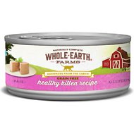 Whole Earth Farms Grain-Free Real Healthy Kitten Recipe Canned Cat Food, 2.75-oz, case of 24