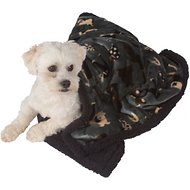 Ultra Paws My Blankie! Waggers Dog Blanket, Blue/Black, Small