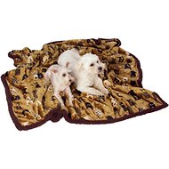 Ultra Paws My Blankie! Waggers Dog Blanket, Tan/Chocolate, Large