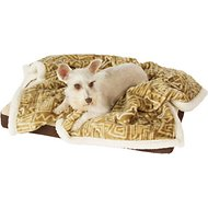 Ultra Paws My Blankie! BoneApart Dog Blanket, Tan/Cream, Small