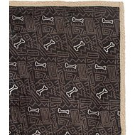 Ultra Paws My Blankie! BoneApart Dog Blanket, Olive/Tan, Large