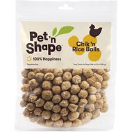 Pet 'n Shape Chik 'n Rice Balls Dog Treats, 1-lb tub