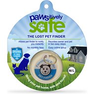 Platinum Pets Pawsitively Safe Pet Finder Tag for Dogs, Blue, Medium/Large