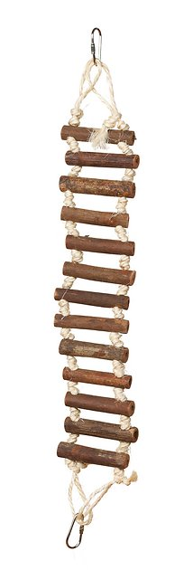 3 4 In Octagon Bird Toys : Prevue pet products naturals rope ladder bird toy in