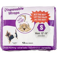 Wiki Wags 12 Disposable Male Dog Wraps, Small